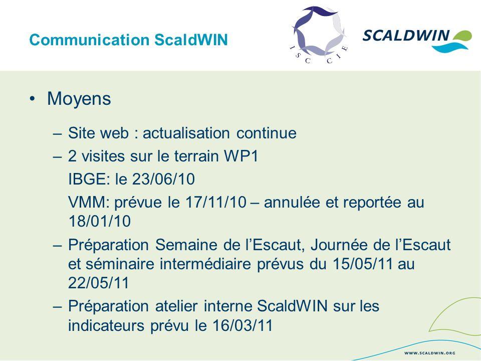 Communication ScaldWIN Moyens –Brochure sur le district hydrographique de lEscaut
