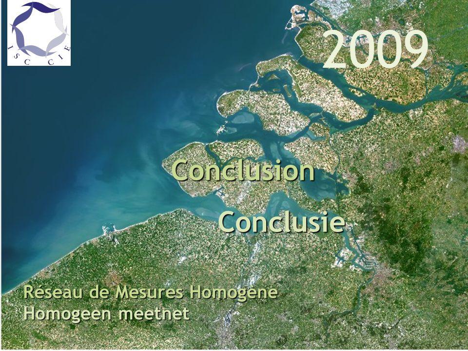 Qualité des eaux de l Escaut en 2006 Réseau de Mesures Homogène Conclusion Conclusie Conclusie Réseau de Mesures Homogène Homogeen meetnet 2009