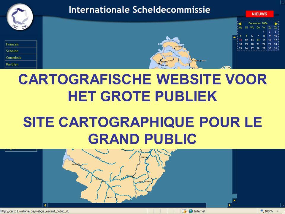 CARTOGRAFISCHE WEBSITE VOOR HET GROTE PUBLIEK SITE CARTOGRAPHIQUE POUR LE GRAND PUBLIC