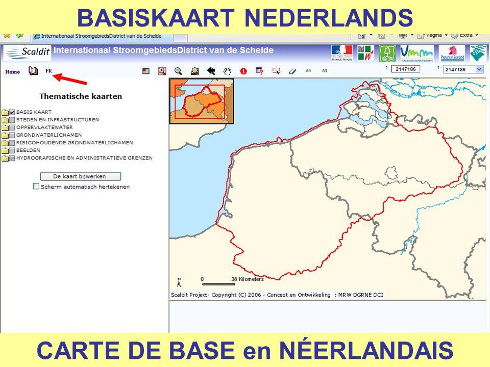 BASISKAART NEDERLANDS CARTE DE BASE en NÉERLANDAIS