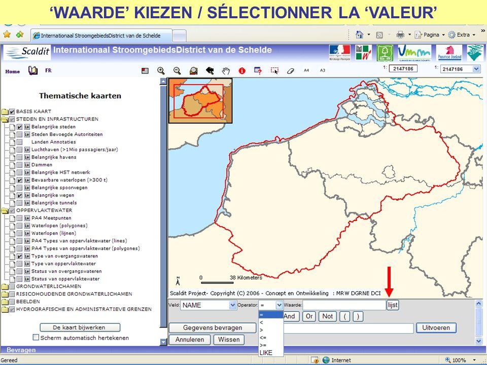 WAARDE KIEZEN / SÉLECTIONNER LA VALEUR