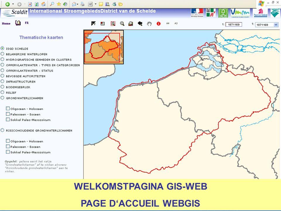 WELKOMSTPAGINA GIS-WEB PAGE DACCUEIL WEBGIS