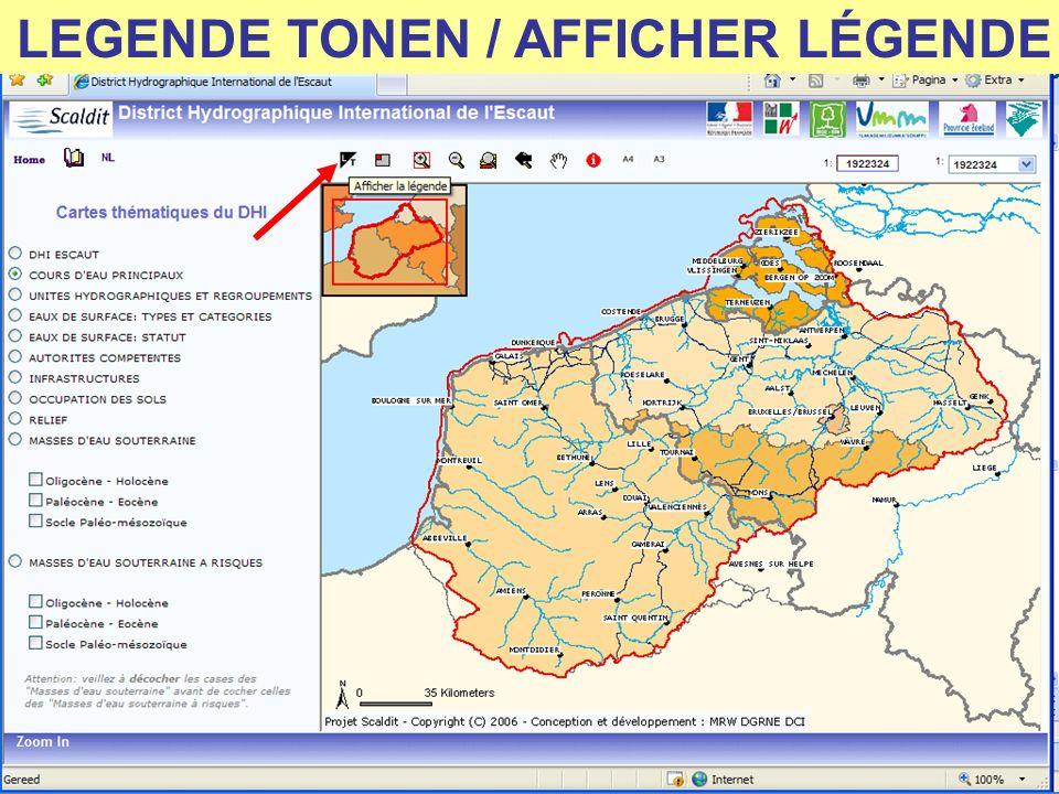 LEGENDE TONEN / AFFICHER LÉGENDE