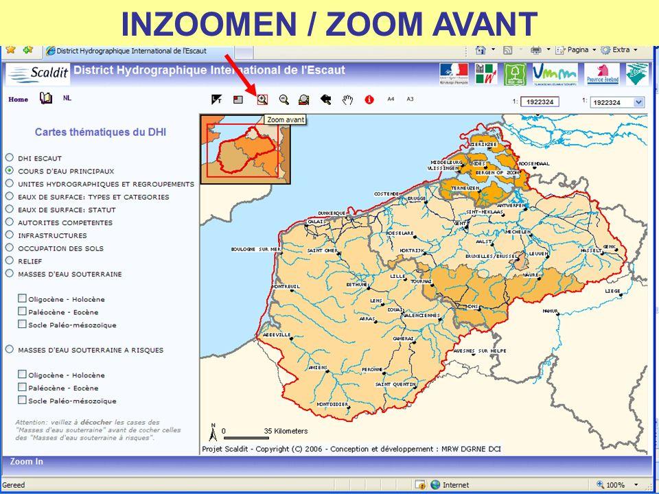 INZOOMEN (GEEN BEPERKING) ZOOM AVANT (PAS DE RESTRICTION)