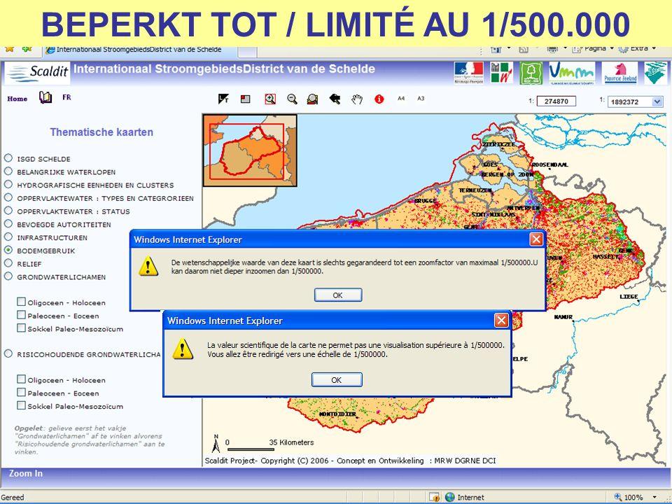 BEPERKT TOT / LIMITÉ AU 1/500.000