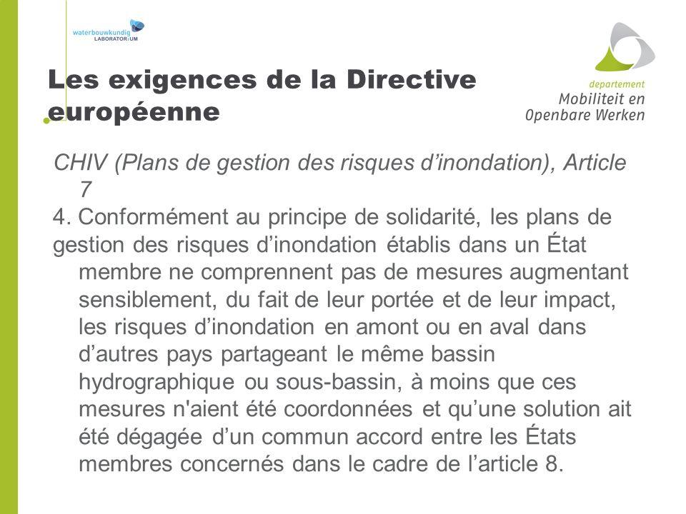 CHIV (Plans de gestion des risques dinondation), Article 7 4. Conformément au principe de solidarité, les plans de gestion des risques dinondation éta