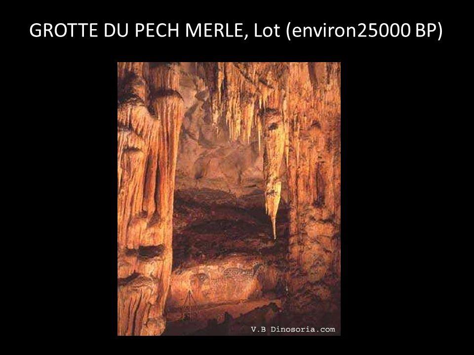 GROTTE DU PECH MERLE, Lot (environ25000 BP)