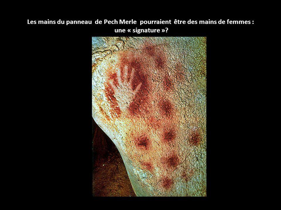 Les mains du panneau de Pech Merle pourraient être des mains de femmes : une « signature »?