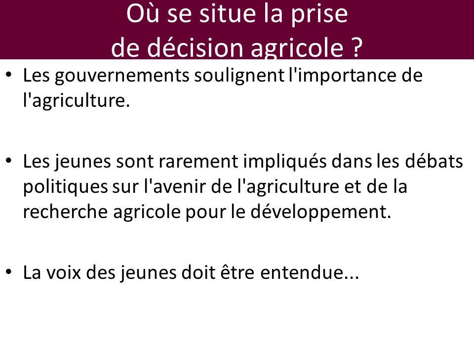 Où se situe la prise de décision agricole .