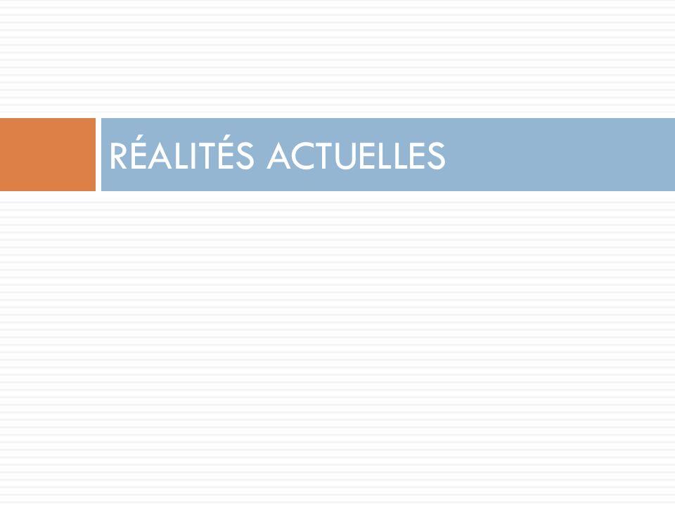 RÉALITÉS ACTUELLES