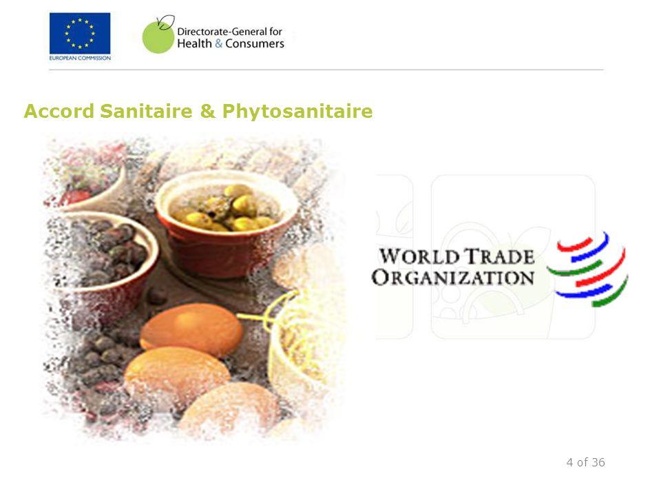 4 of 36 Accord Sanitaire & Phytosanitaire
