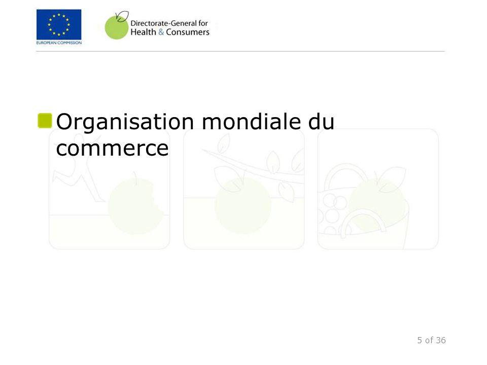 26 of 36 Contrôles phytosanitaires Problèmes de compréhension des règlements communautaires Suivi et contrôles officiels limités Absence de documentation/ traçabilité Principaux résultats