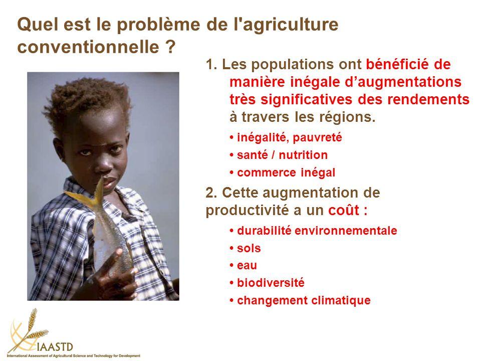 1. Les populations ont bénéficié de manière inégale daugmentations très significatives des rendements à travers les régions. inégalité, pauvreté santé