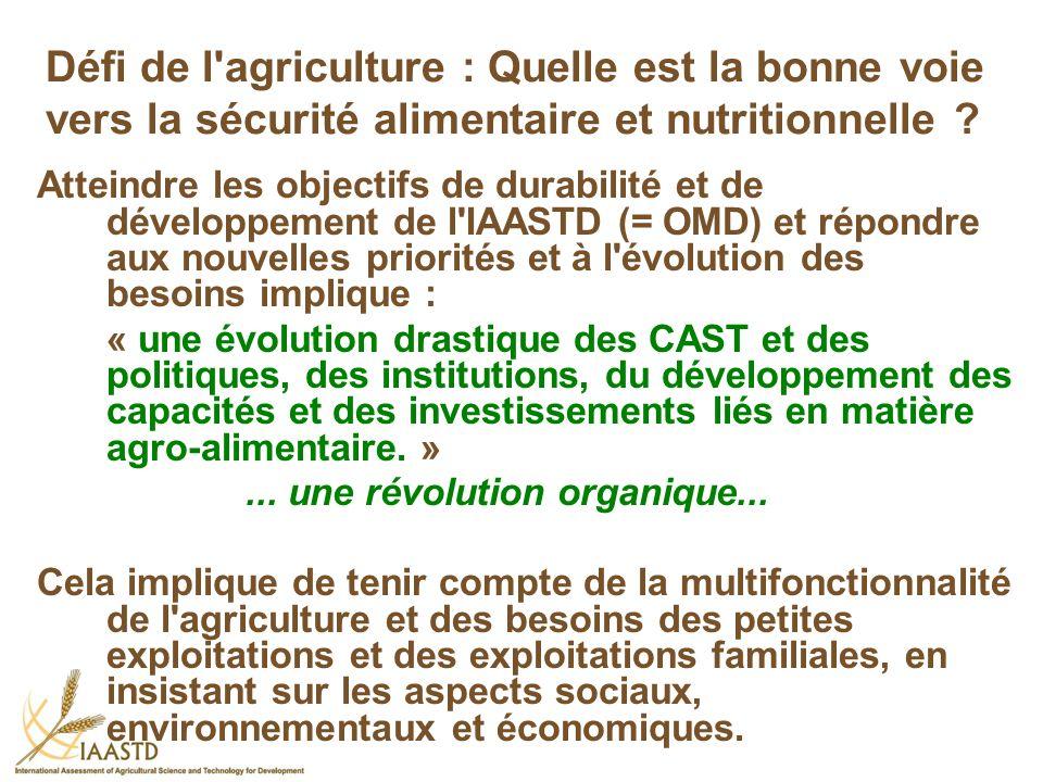 Défi de l'agriculture : Quelle est la bonne voie vers la sécurité alimentaire et nutritionnelle ? Atteindre les objectifs de durabilité et de développ
