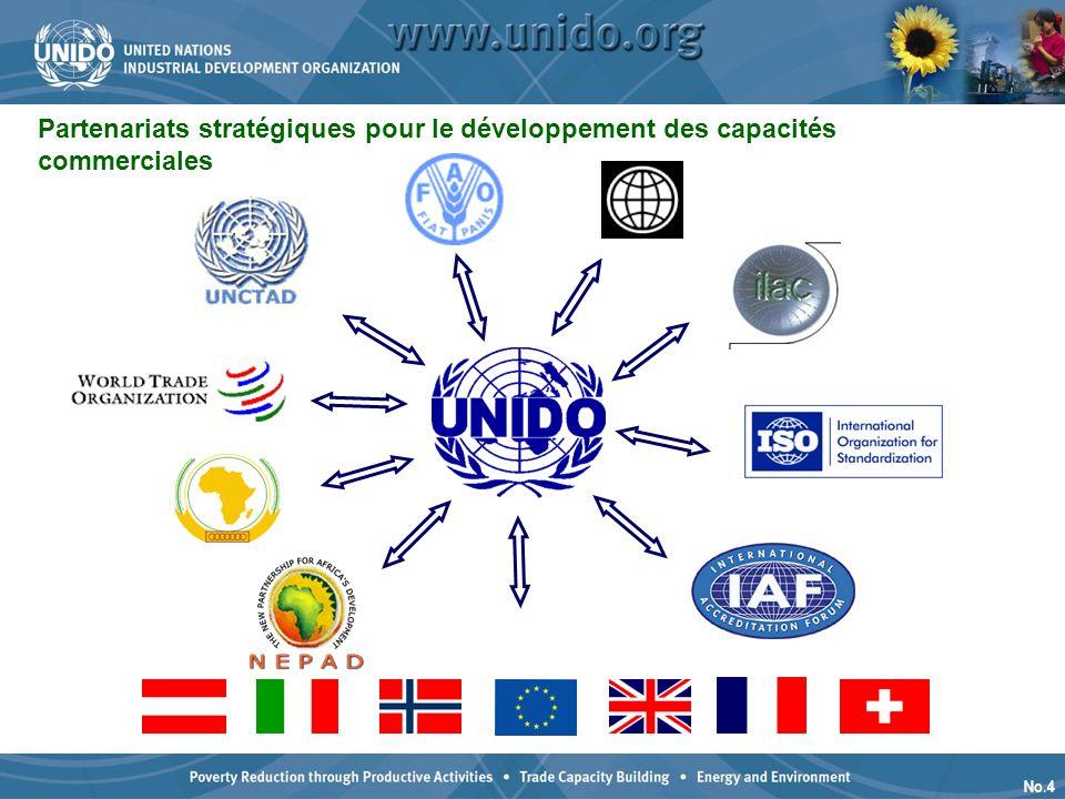 No.4 Partenariats stratégiques pour le développement des capacités commerciales