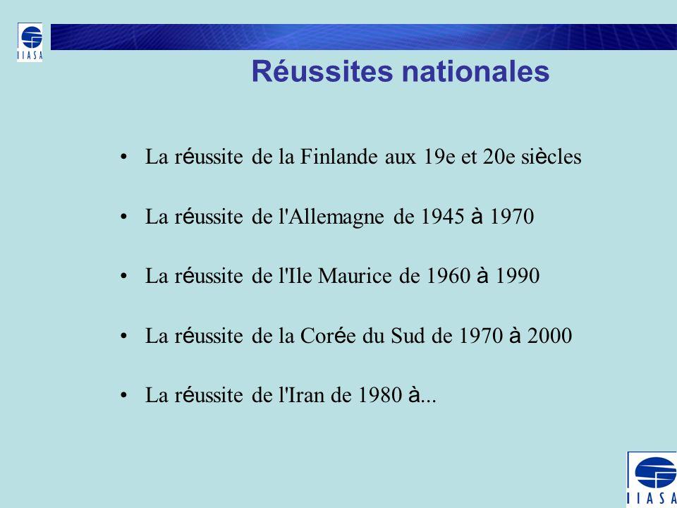 Réussites nationales La r é ussite de la Finlande aux 19e et 20e si è cles La r é ussite de l'Allemagne de 1945 à 1970 La r é ussite de l'Ile Maurice