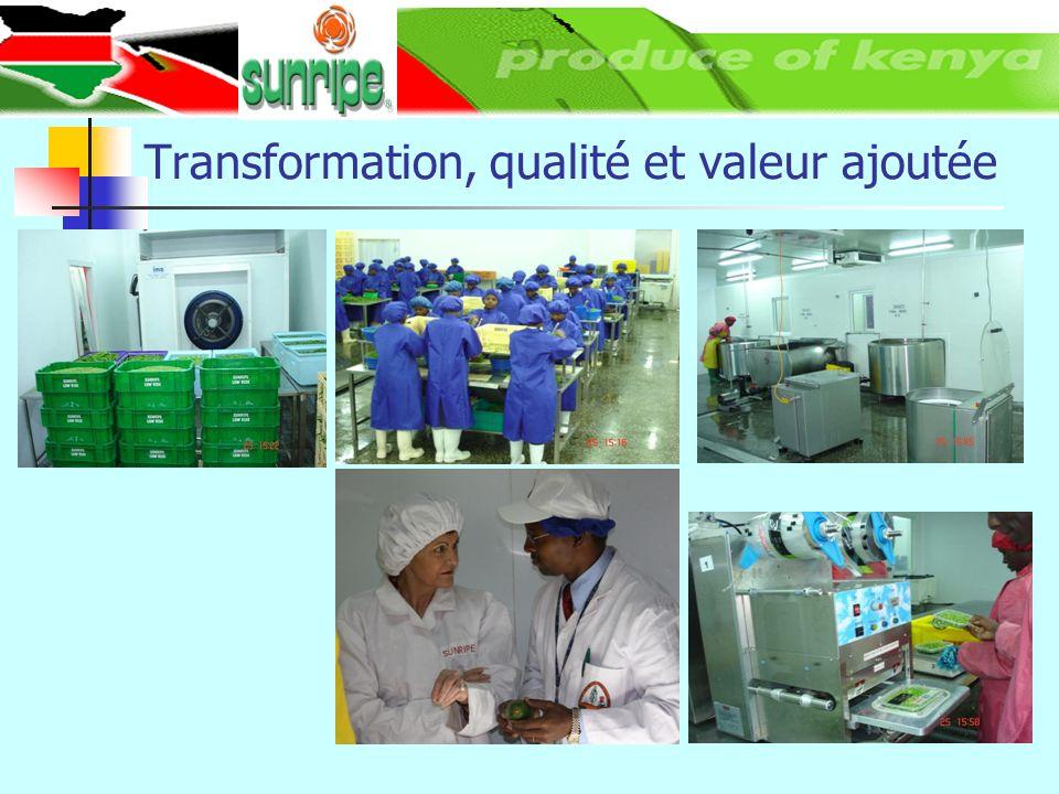 Transformation, qualité et valeur ajoutée