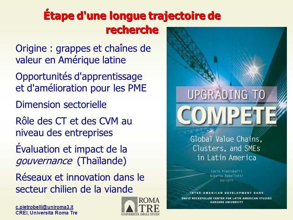 c.pietrobelli@uniroma3.it CREI, Università Roma Tre 17 Pourquoi le concept de CV est-il utile .