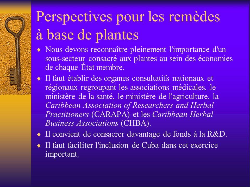 Perspectives pour les remèdes à base de plantes Nous devons reconnaître pleinement l importance d un sous-secteur consacré aux plantes au sein des économies de chaque État membre.