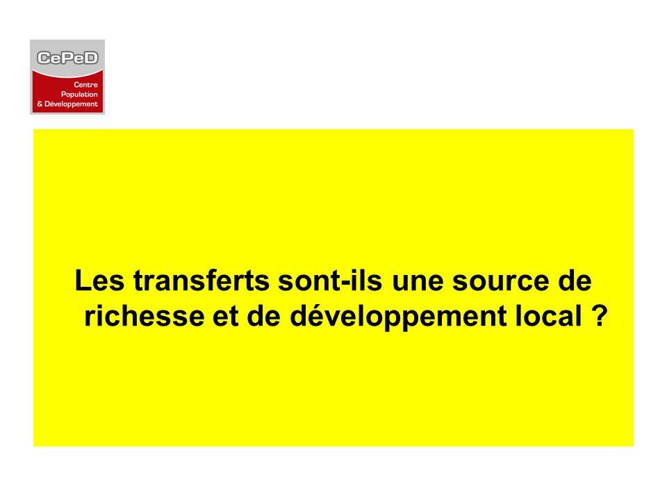 Les transferts sont-ils une source de richesse et de développement local ?