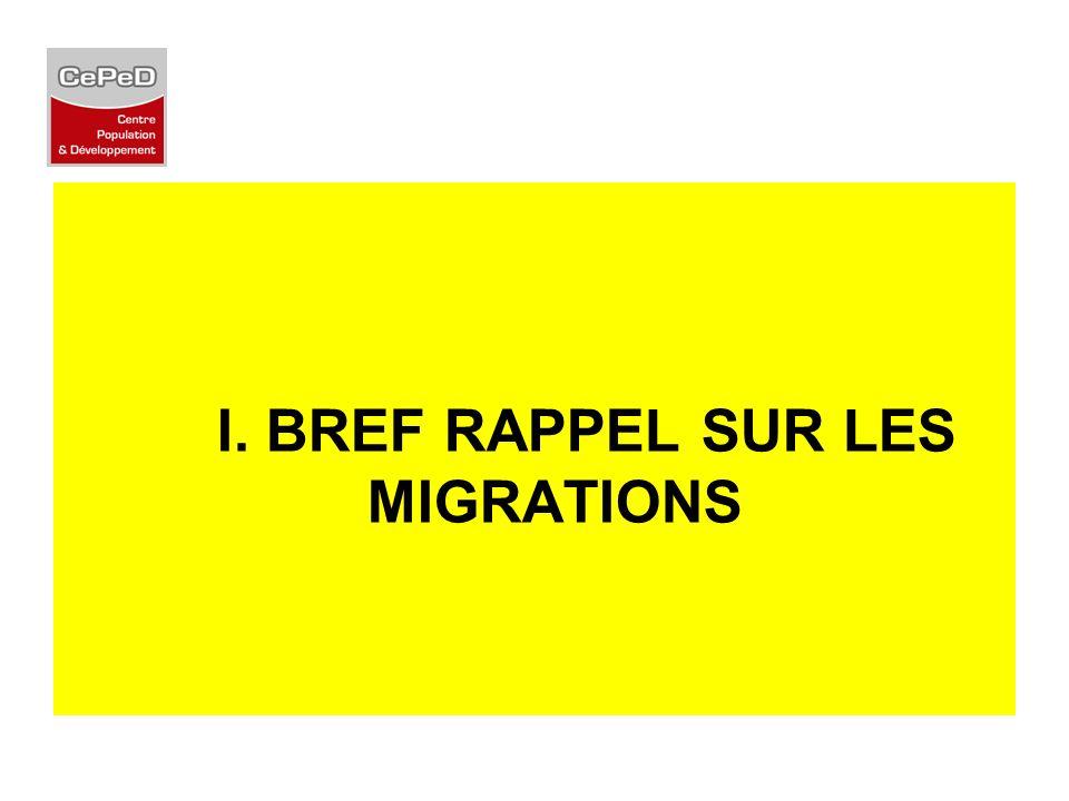 I. BREF RAPPEL SUR LES MIGRATIONS