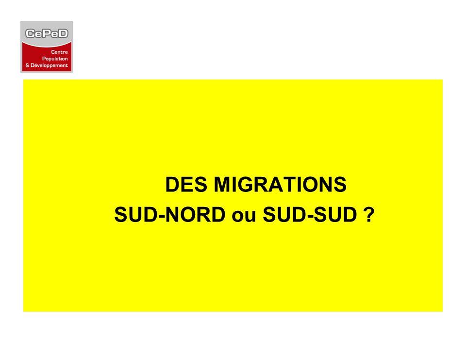 DES MIGRATIONS SUD-NORD ou SUD-SUD ?