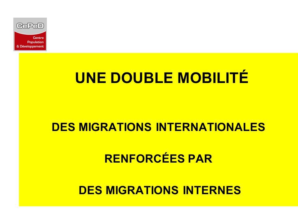 UNE DOUBLE MOBILITÉ DES MIGRATIONS INTERNATIONALES RENFORCÉES PAR DES MIGRATIONS INTERNES