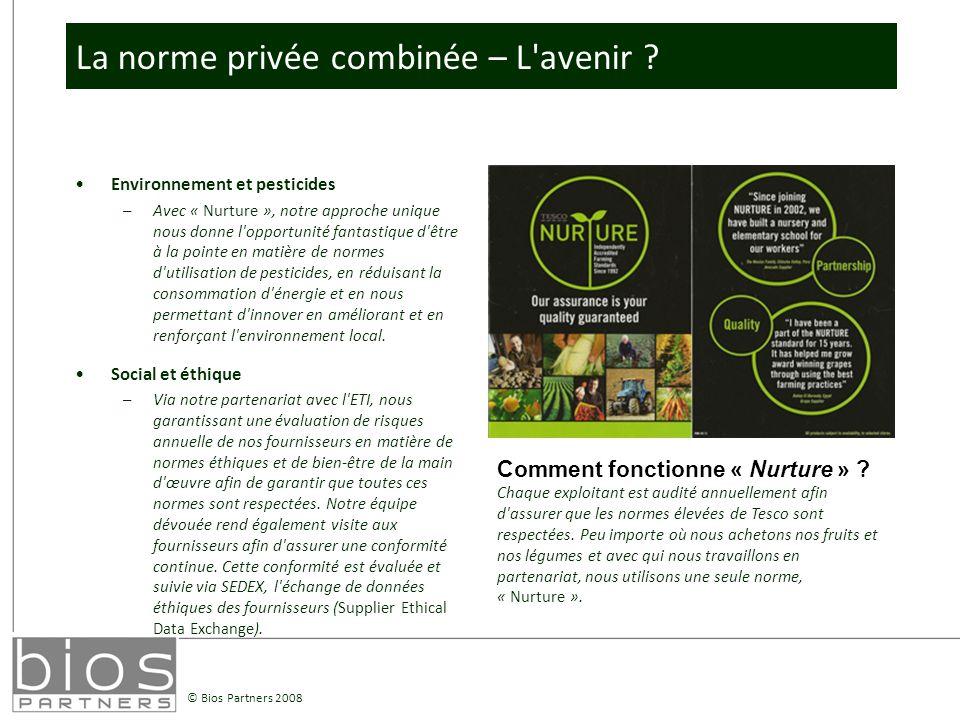 © Bios Partners 2008 La norme privée combinée – L avenir .