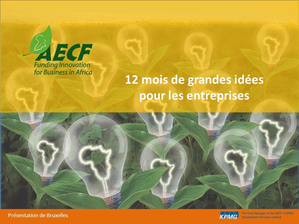 12 mois de grandes idées pour les entreprises Présentation de Bruxelles