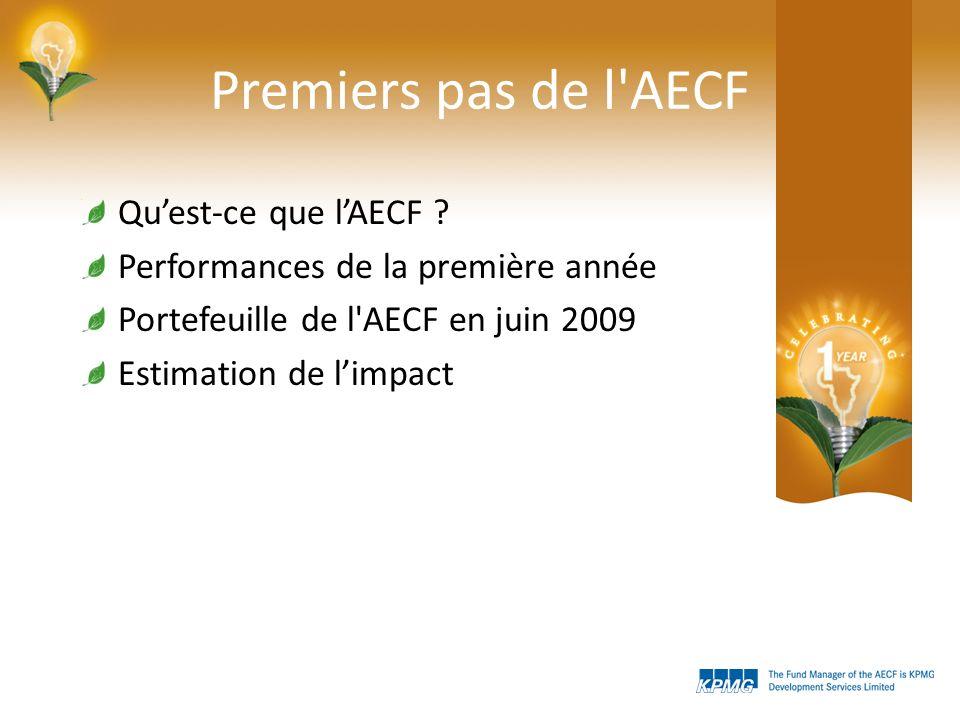 Premiers pas de l AECF Quest-ce que lAECF .