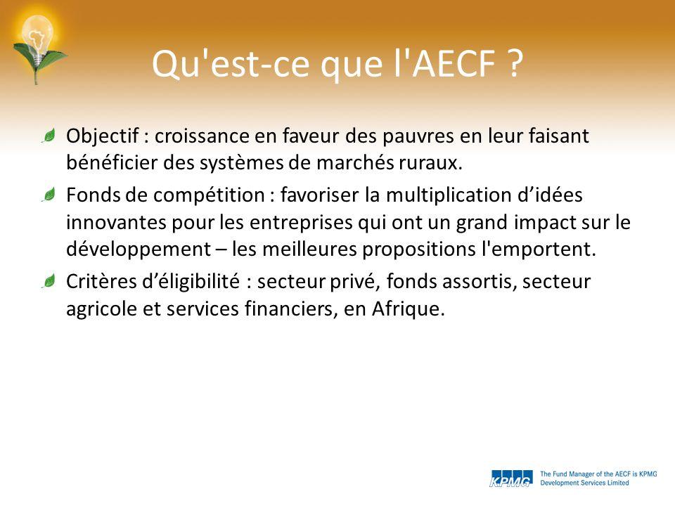 Qu est-ce que l AECF .