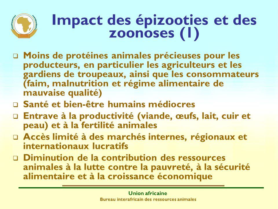 Union africaine Bureau interafricain des ressources animales Moins de protéines animales précieuses pour les producteurs, en particulier les agriculte