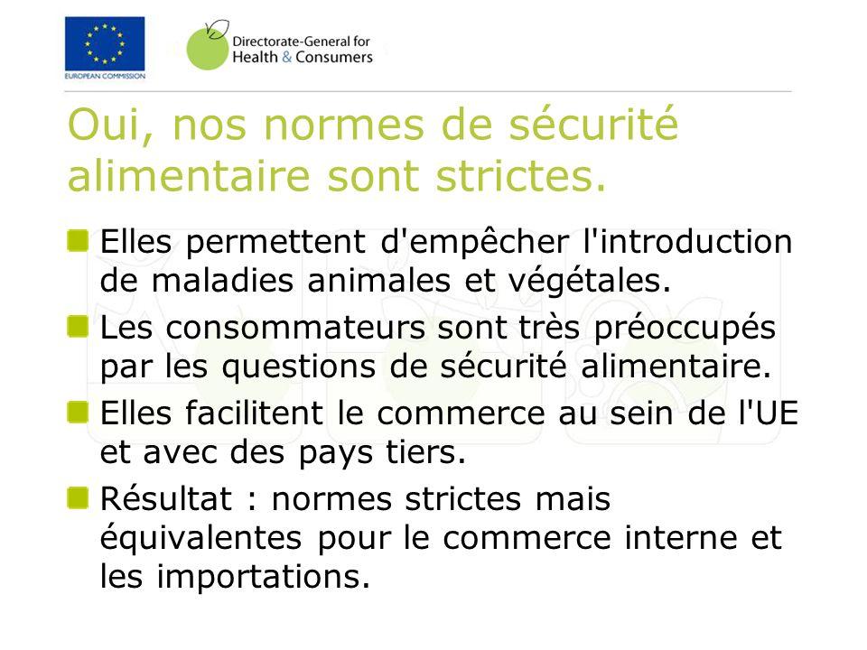 Cadre législatif Santé publique Règlements (CE) n°852/2004, 853/2004 et 854/2004 (Pack hygiène) Santé animale Directive 2002/99/CE Conditions d importation (liste de pays tiers/certificats/etc.) Contrôles vétérinaires : Directives 97/78/CE et 91/496/CEE et contrôles officiels : Règlement (CE) n°882/2004 (aliments pour animaux et denrées alimentaires) Base juridique Législation de mise en œuvre Législation d exécution
