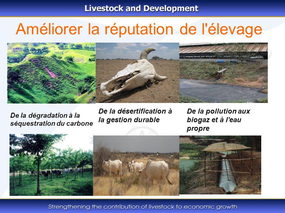 Améliorer la réputation de l'élevage De la dégradation à la séquestration du carbone De la pollution aux biogaz et à l'eau propre De la désertificatio