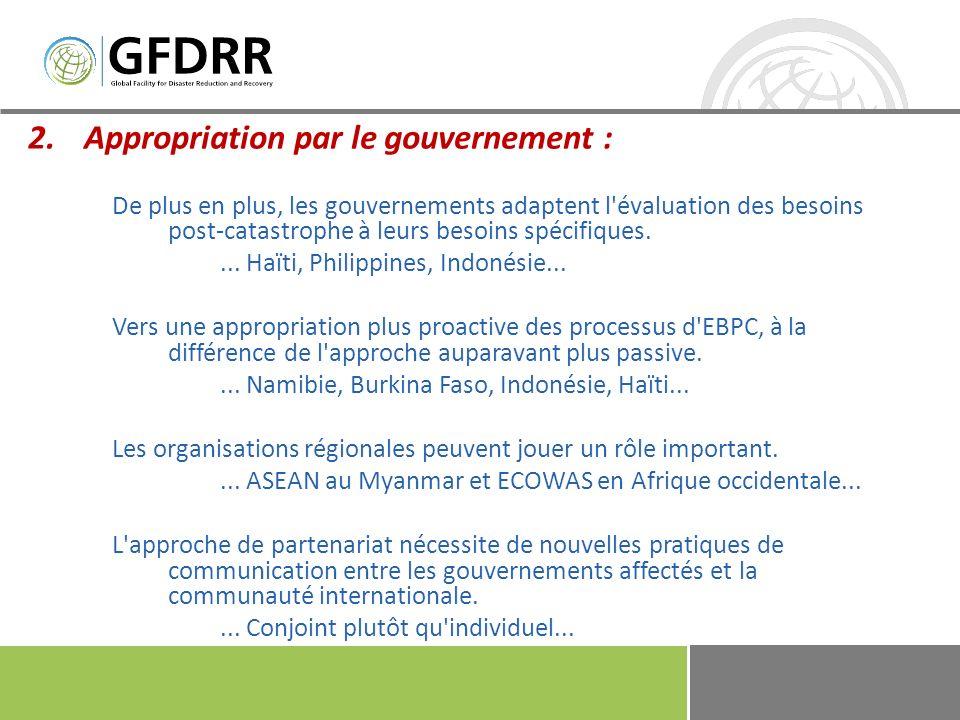 3.Coordination et partenariat : Renforcer l intérêt des organisations mondiales et régionales, des donateurs bilatéraux et des pays voisins....