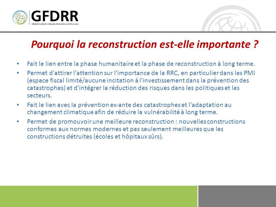 1/5/20148 Éléments du processus de planification de la reconstruction