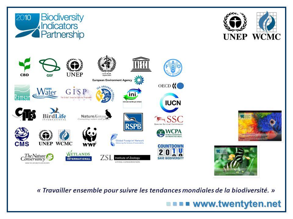 « Travailler ensemble pour suivre les tendances mondiales de la biodiversité.