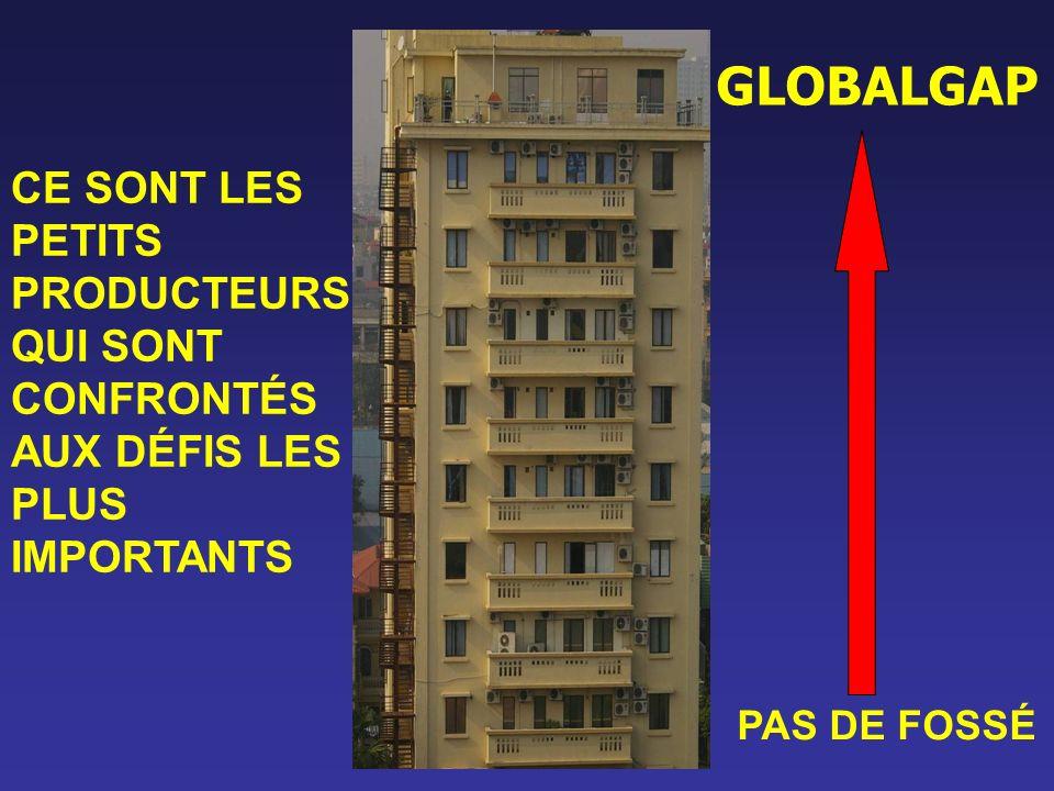 GLOBALGAP PAS DE FOSSÉ CE SONT LES PETITS PRODUCTEURS QUI SONT CONFRONTÉS AUX DÉFIS LES PLUS IMPORTANTS