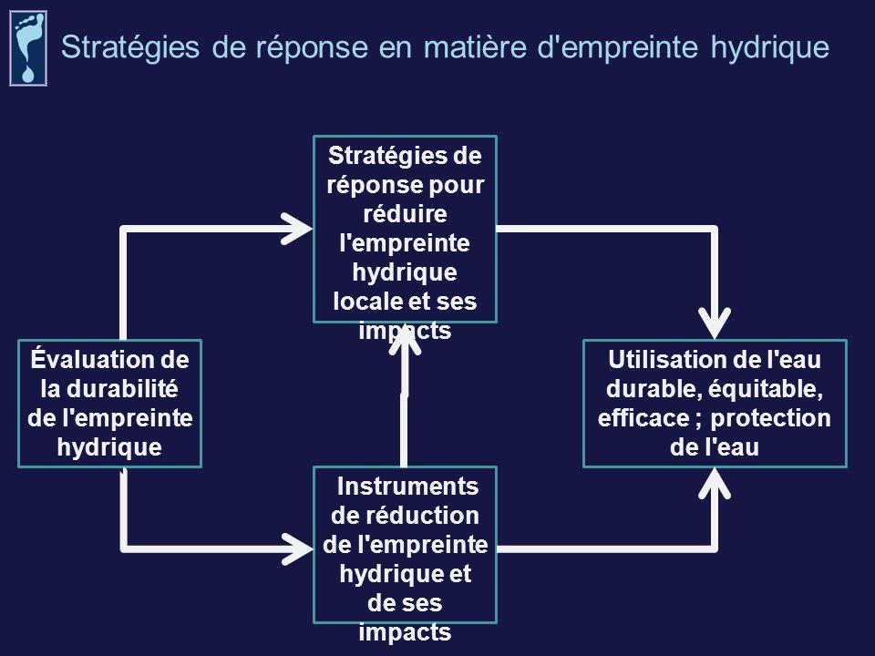 Stratégies de réponse pour réduire l'empreinte hydrique locale et ses impacts Instruments de réduction de l'empreinte hydrique et de ses impacts Utili