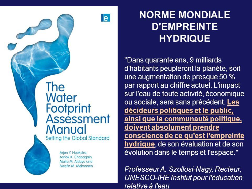 NORME MONDIALE D'EMPREINTE HYDRIQUE