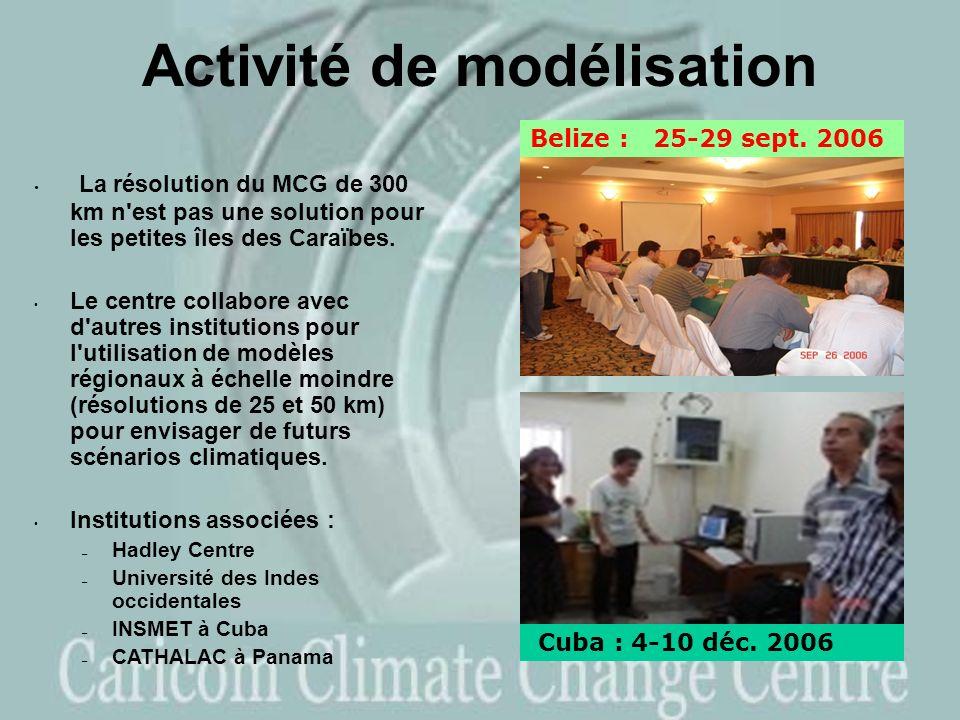 Activité de modélisation La résolution du MCG de 300 km n est pas une solution pour les petites îles des Caraïbes.