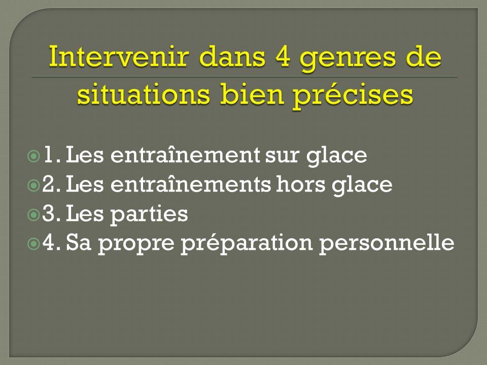 A) Lobservation B) La communication C) Lévaluation périodique D) La préparation et la motivation E) La création de séances adaptées