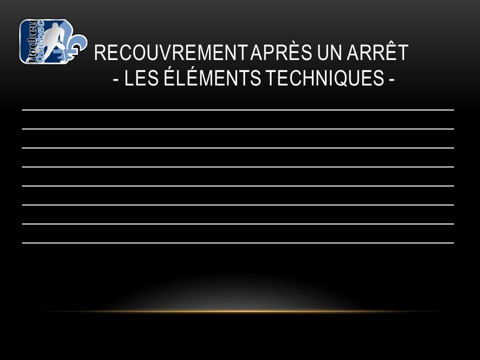 RECOUVREMENT APRÈS UN ARRÊT - LES ÉLÉMENTS TECHNIQUES -