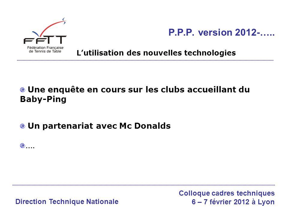 Une enquête en cours sur les clubs accueillant du Baby-Ping Un partenariat avec Mc Donalds ….