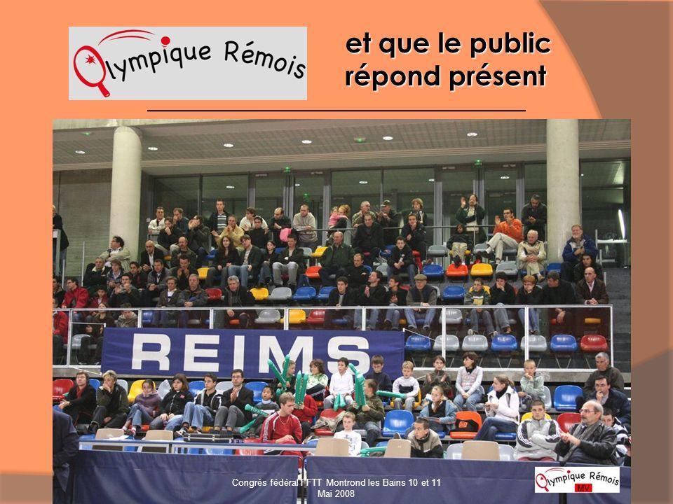 et que le public répond présent Congrès fédéral FFTT Montrond les Bains 10 et 11 Mai 2008