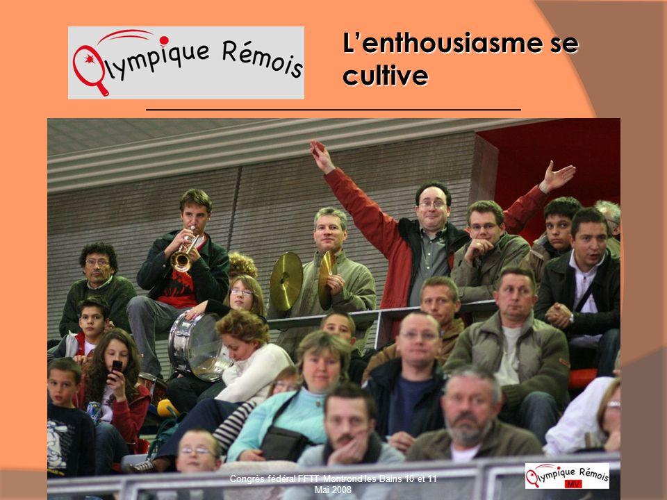 Lenthousiasme se cultive Congrès fédéral FFTT Montrond les Bains 10 et 11 Mai 2008