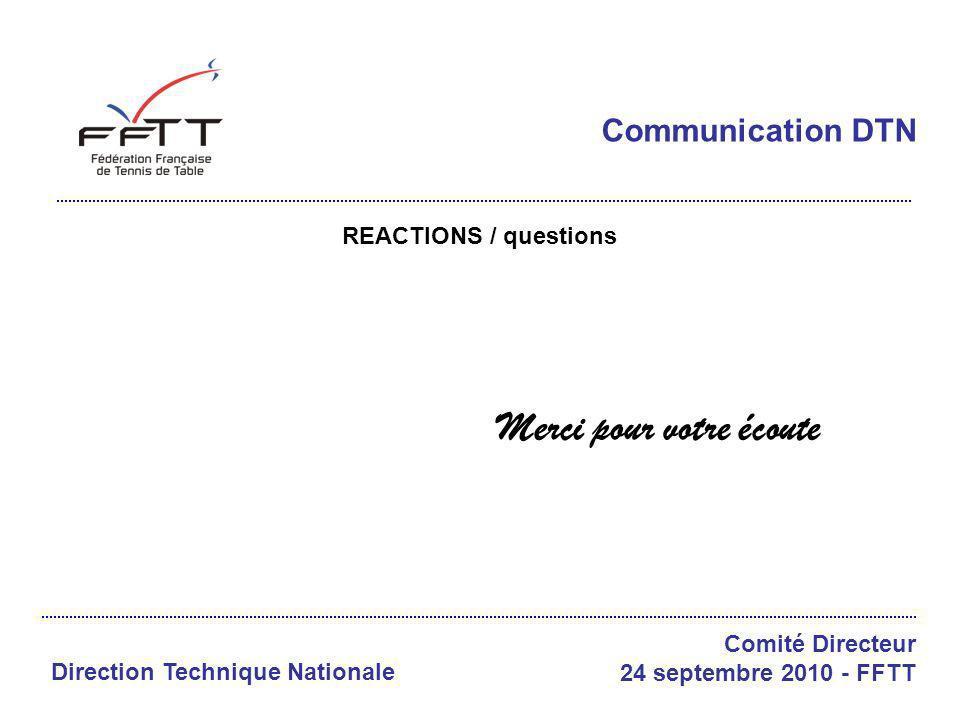 LISTES DE DISTRIBUTION DTN CD FFTT 24/09/2010 COM M DTN