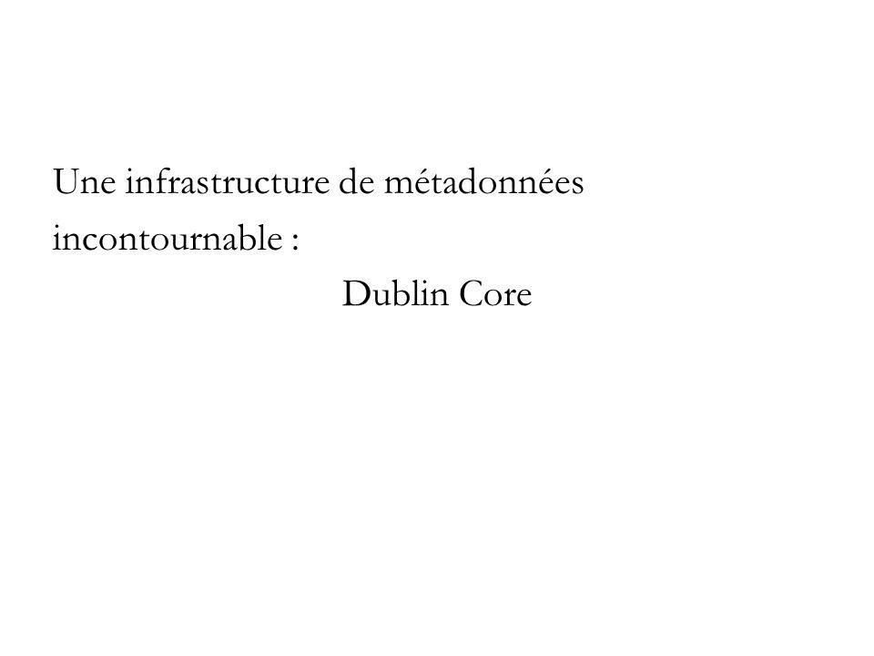 Une infrastructure de métadonnées incontournable : Dublin Core