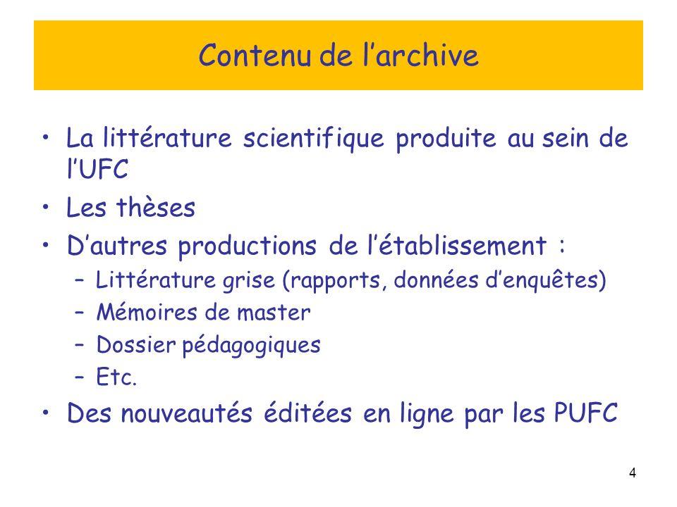 5 Validation des publications et dépôt Qui octroie la validation scientifique aux documents déposés .