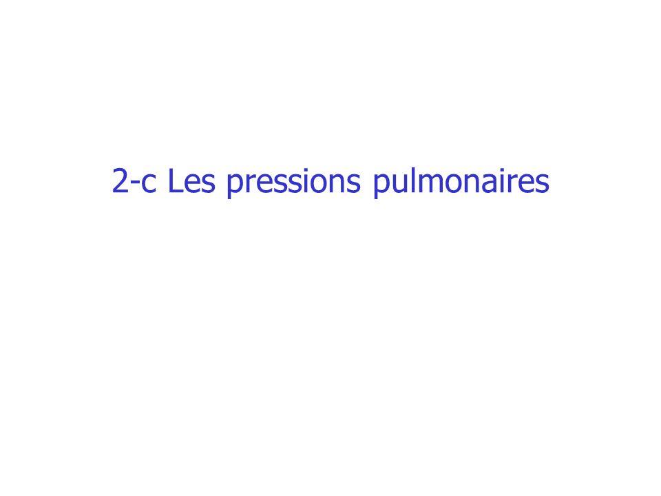 2-c Les pressions pulmonaires